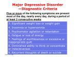major depressive disorder diagnostic criteria7