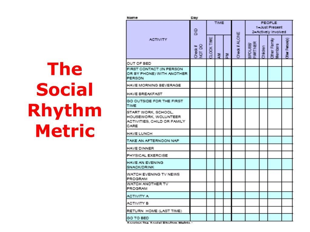 The Social Rhythm Metric