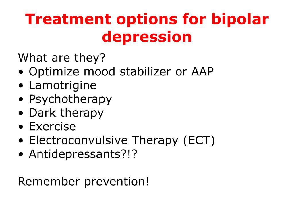 Treatment options for bipolar depression