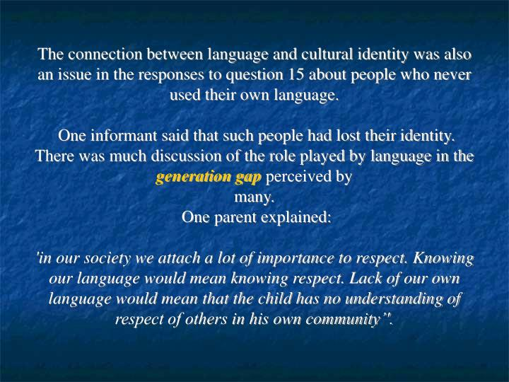what is the connection between language and culture