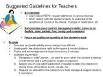suggested guidelines for teachers