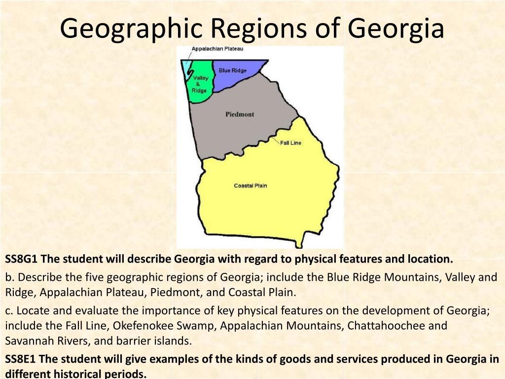 geographic regions of georgia l.