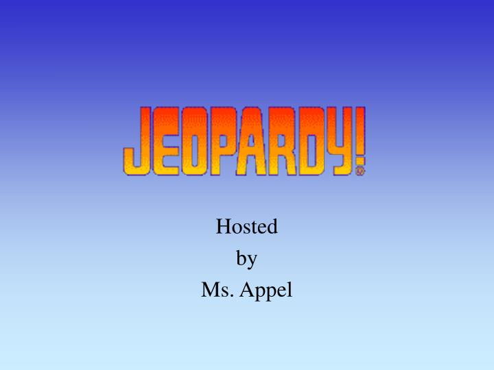 hosted by ms appel n.