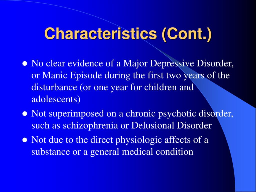 Characteristics (Cont.)