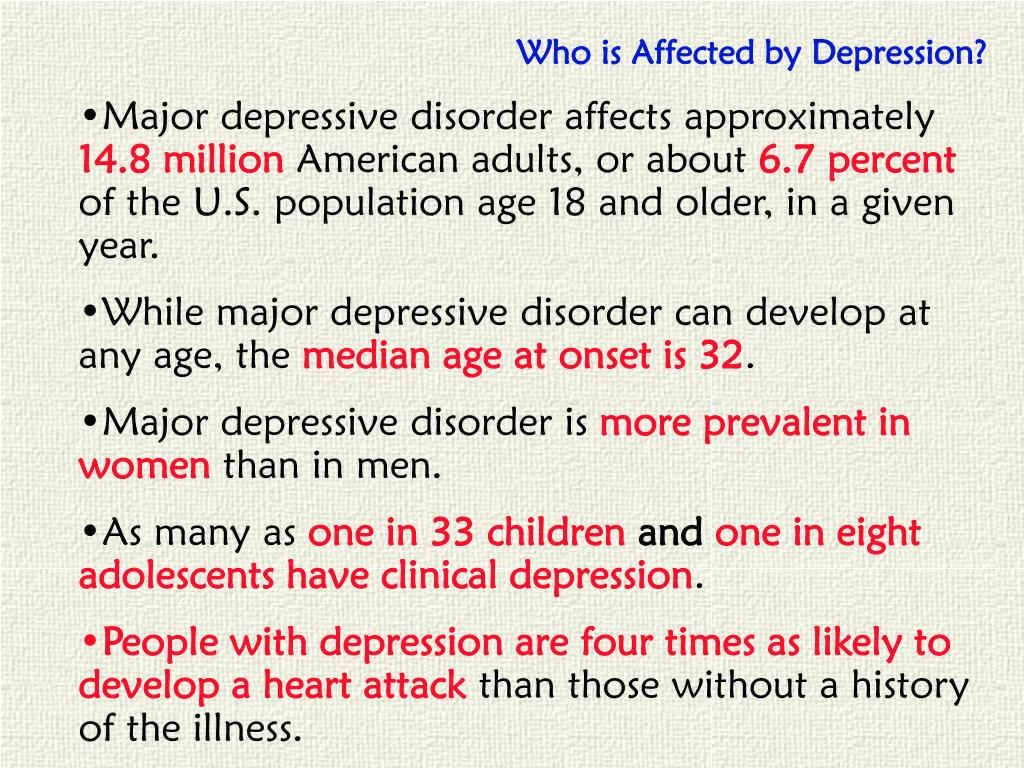 Who is Affected by Depression?