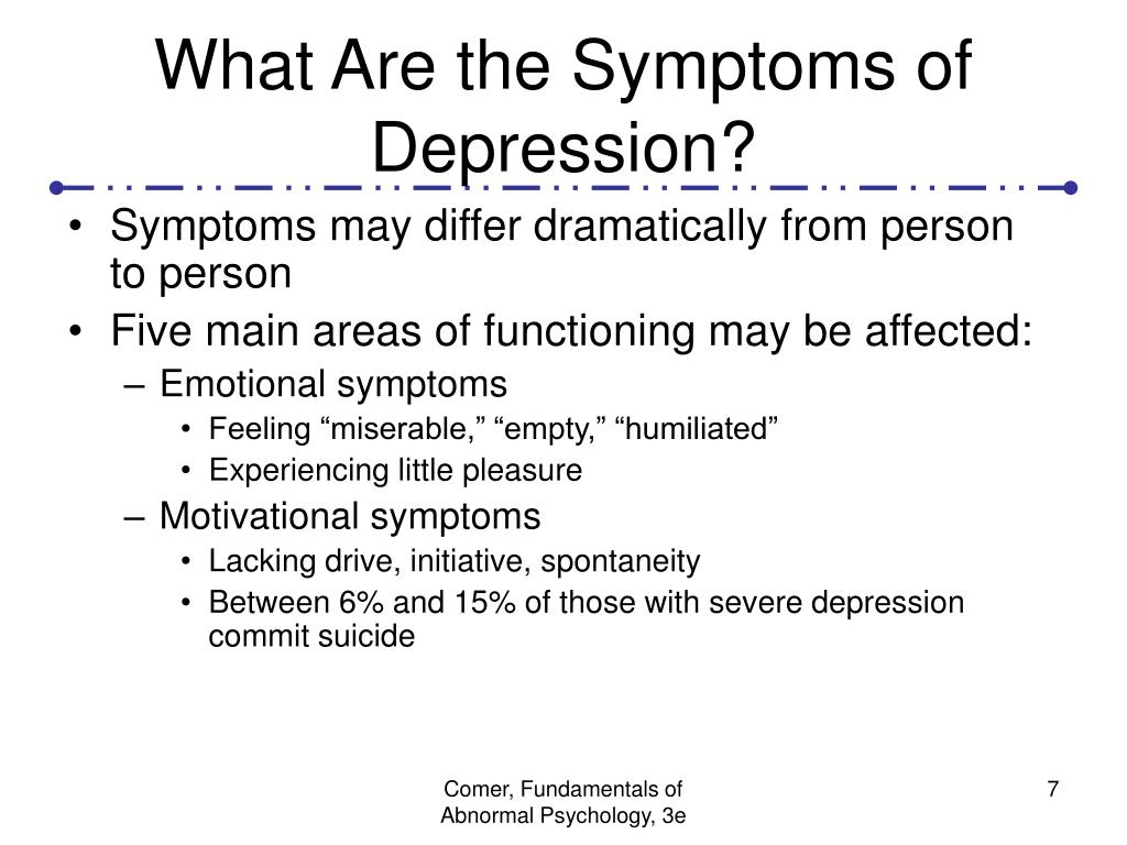 What Are the Symptoms of Depression?