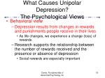 what causes unipolar depression the psychological views19