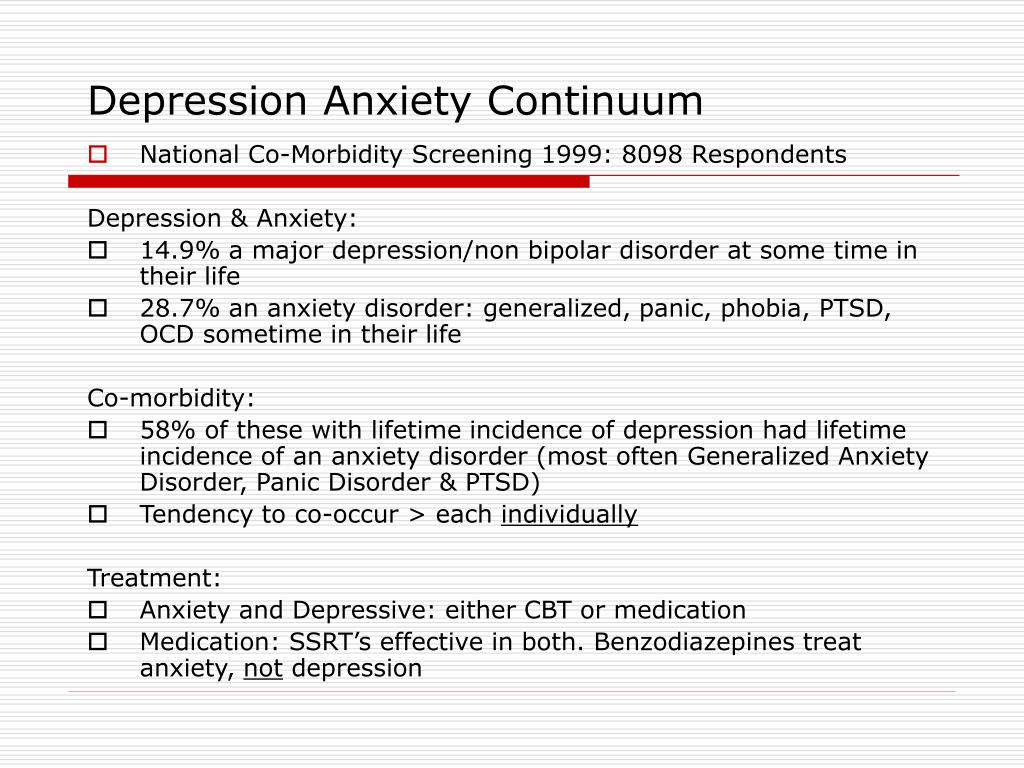 Depression Anxiety Continuum
