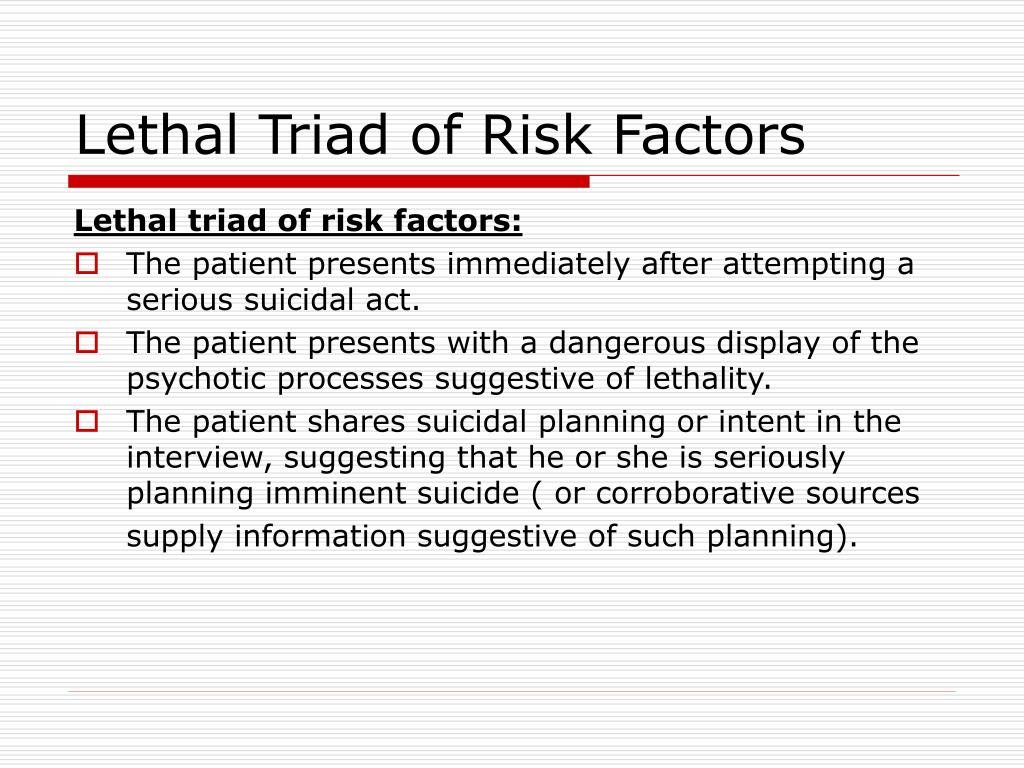 Lethal Triad of Risk Factors