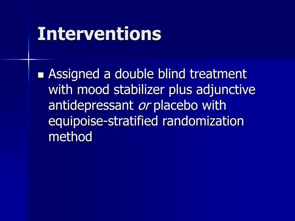 PPT - Effectiveness of Adjunctive Treatment for Bipolar ...
