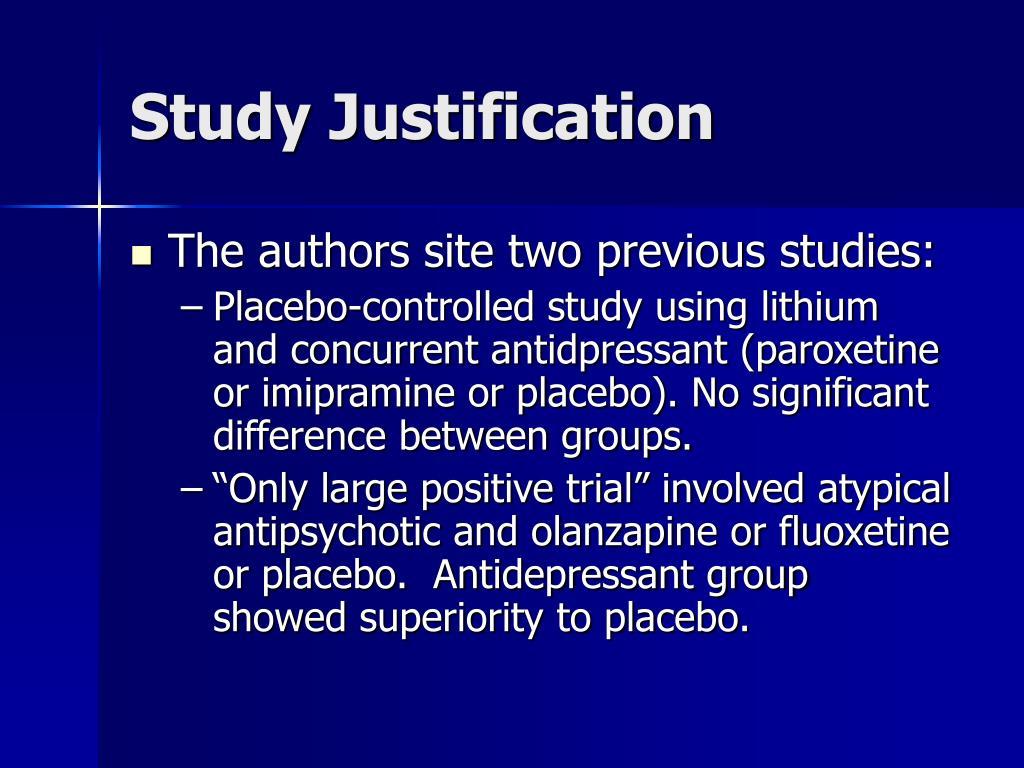 Study Justification