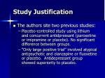 study justification5