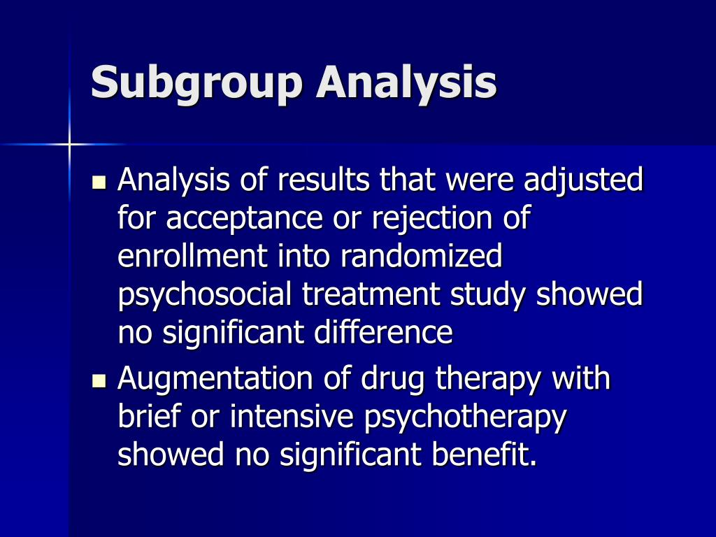 Subgroup Analysis