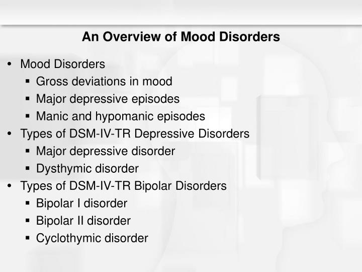 An overview of mood disorders