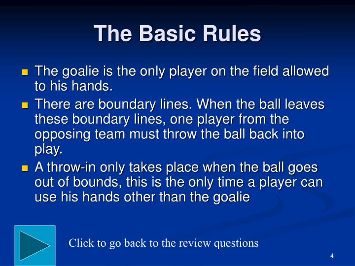 The Basic Rules