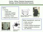 carts other mobile equipment design and maintenance issues