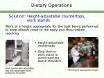dietary operations16