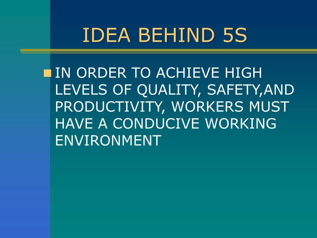 IDEA BEHIND 5S