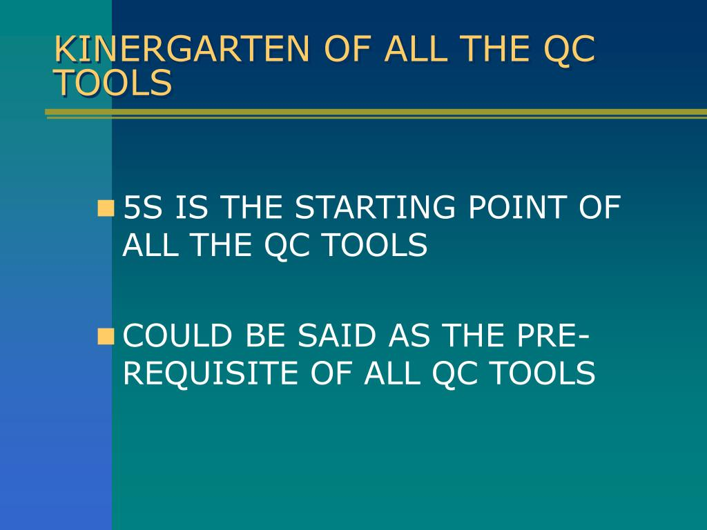 KINERGARTEN OF ALL THE QC TOOLS