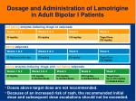 dosage and administration of lamotrigine in adult bipolar i patients