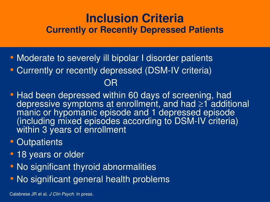 Inclusion Criteria