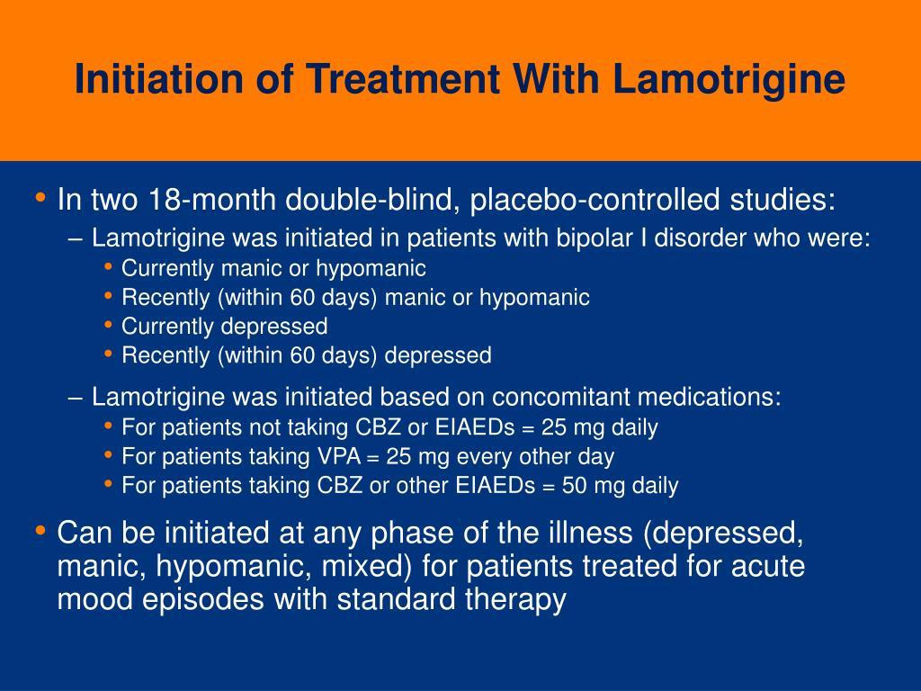 Initiation of Treatment With Lamotrigine