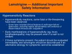 lamotrigine additional important safety information