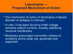 lamotrigine proposed mechanism of action
