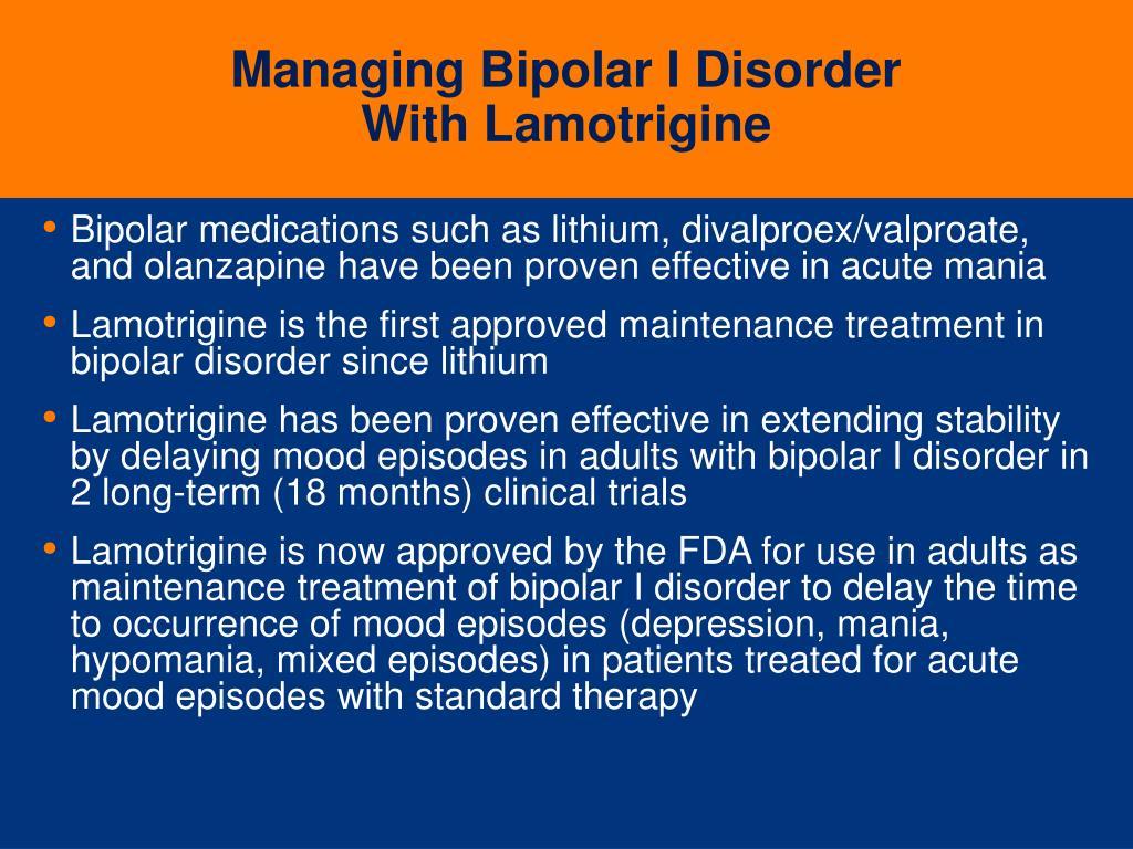 Managing Bipolar I Disorder