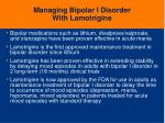 managing bipolar i disorder with lamotrigine