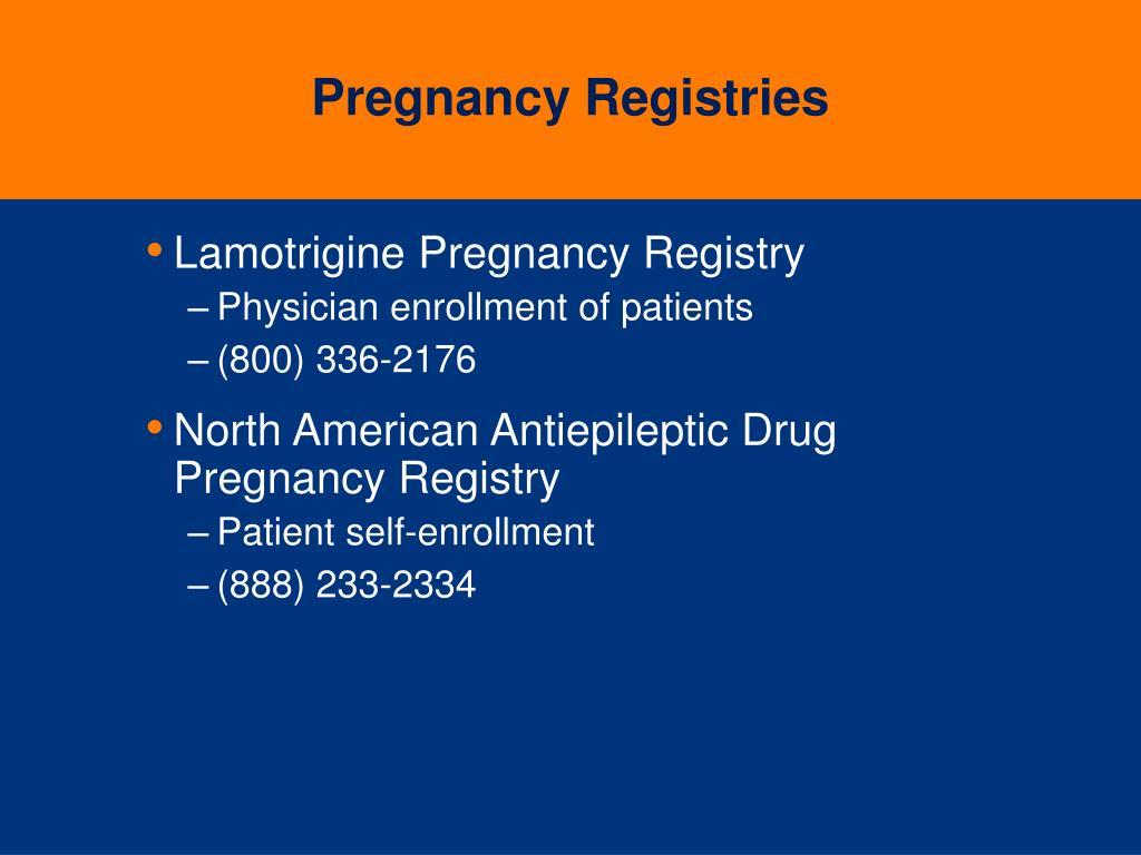 Pregnancy Registries