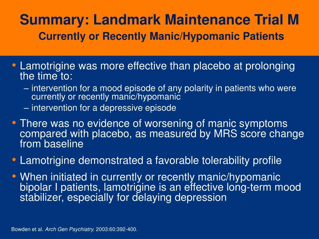 Summary: Landmark Maintenance Trial M