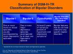 summary of dsm iv tr classification of bipolar disorders