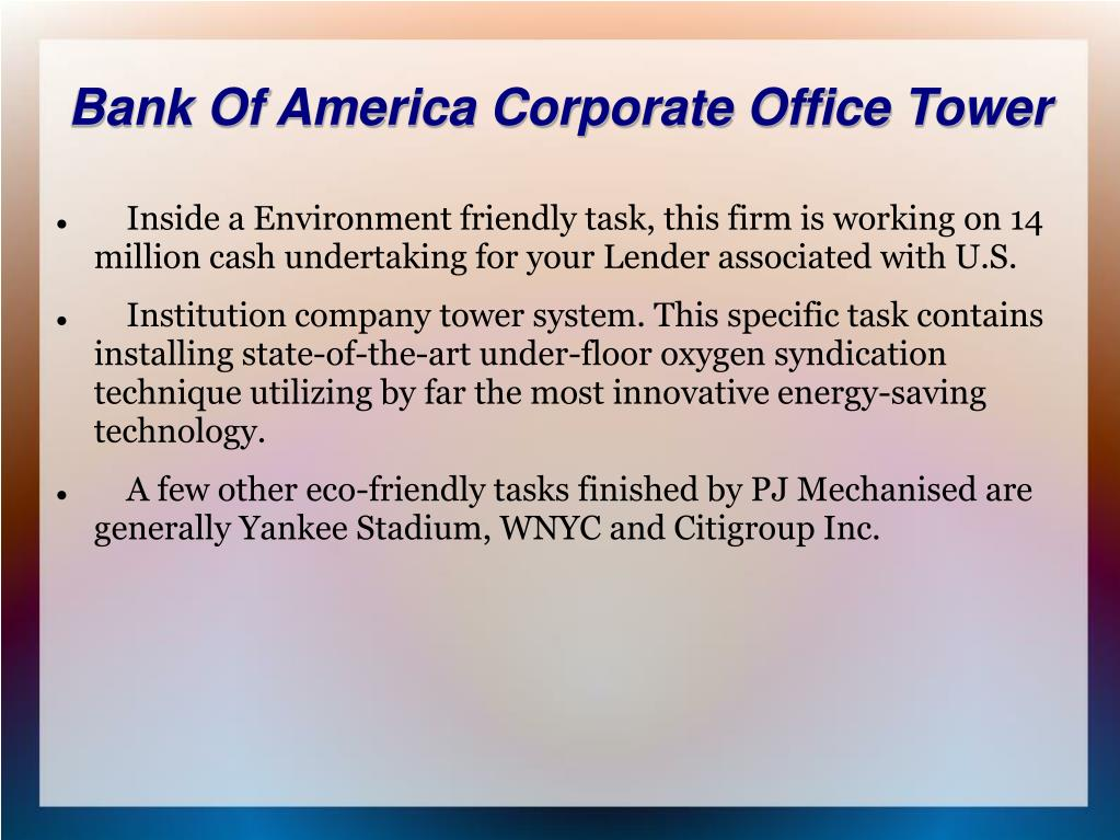 Bank Of America Corporate Office Tower