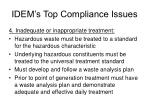 idem s top compliance issues14
