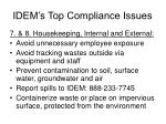 idem s top compliance issues17