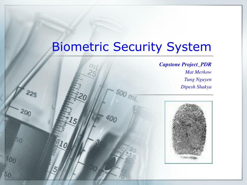 biometric security system l.