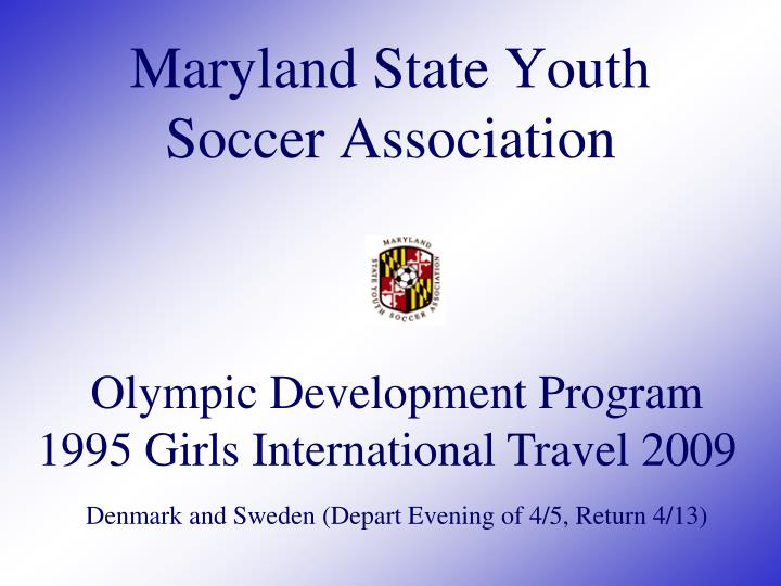 maryland state youth soccer association n.