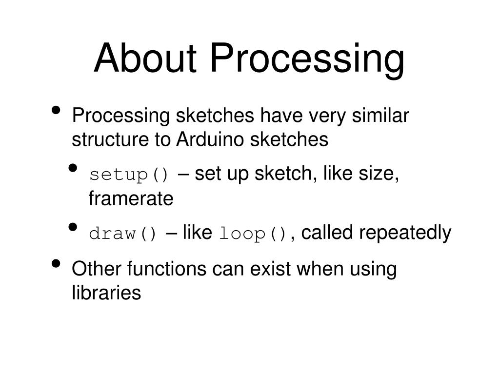 About Processing