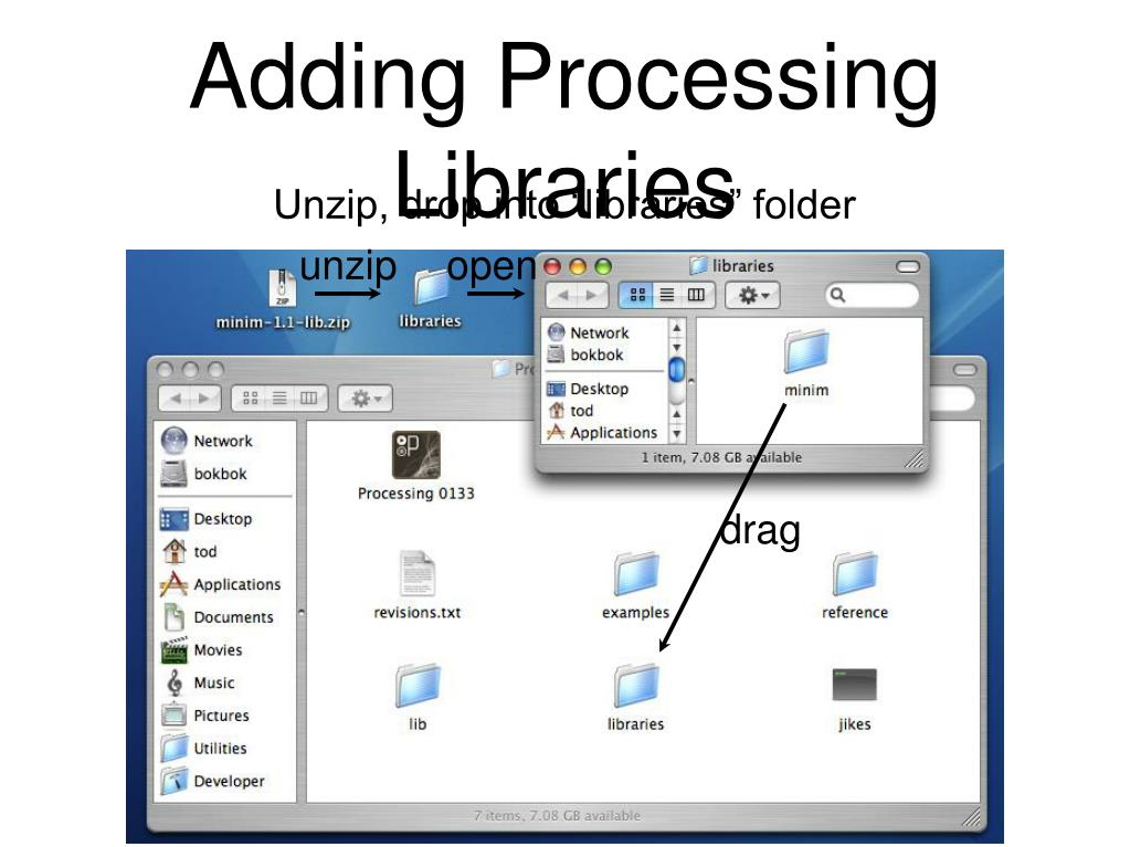 Adding Processing Libraries