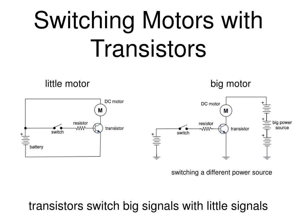 Switching Motors with Transistors