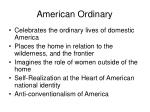 american ordinary