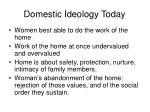 domestic ideology today
