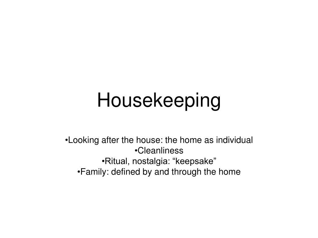 housekeeping l.