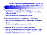 further cost effective measures to reduce pm emissions in the cafe scenarios for the eu 25 3