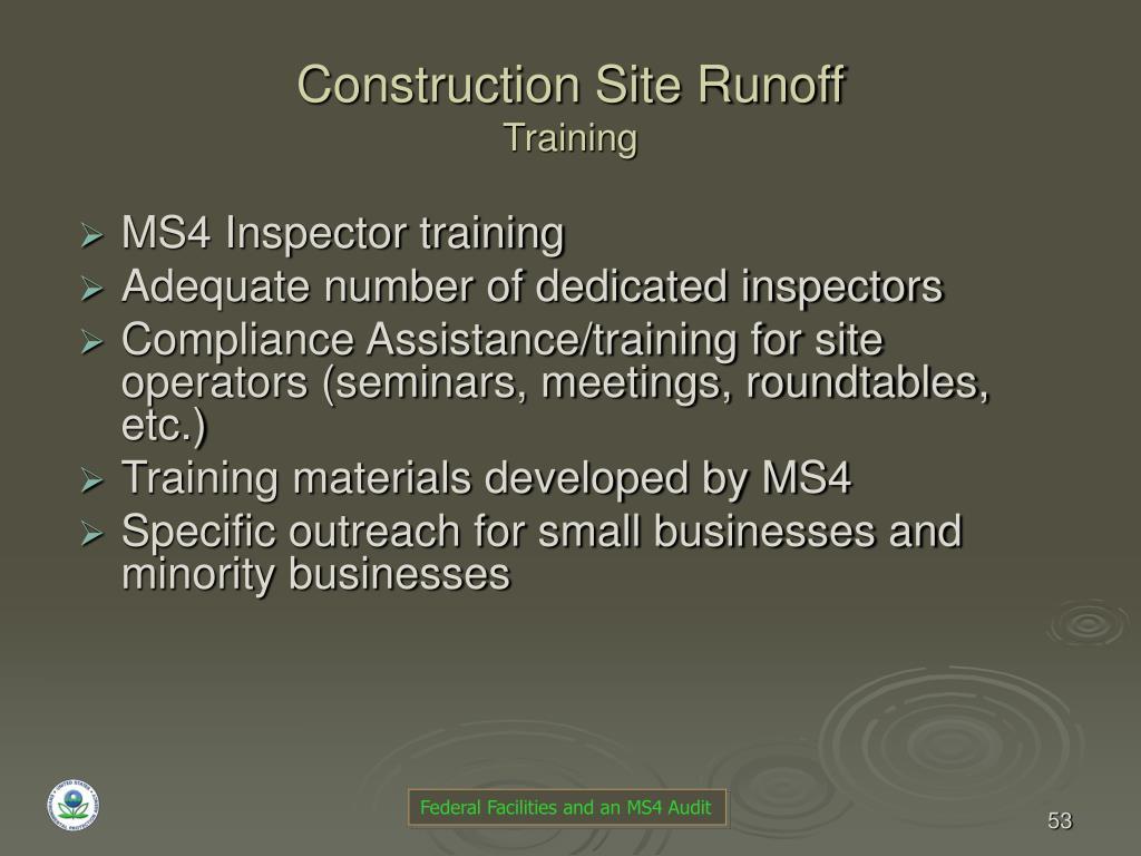 Construction Site Runoff