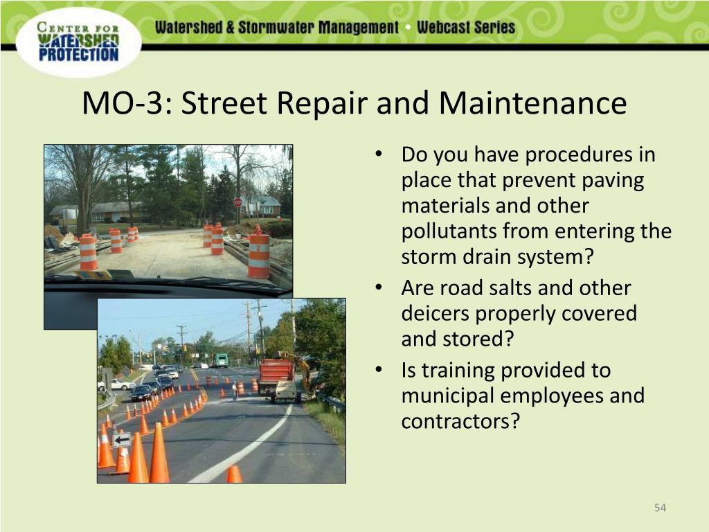 MO-3: Street Repair and Maintenance