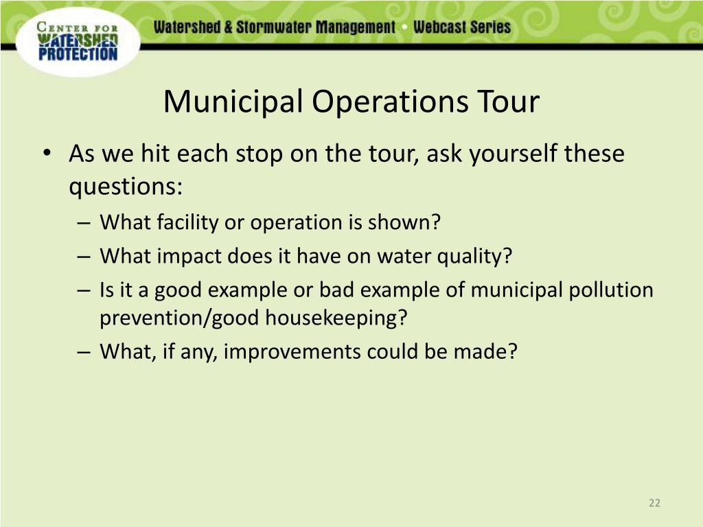 Municipal Operations Tour