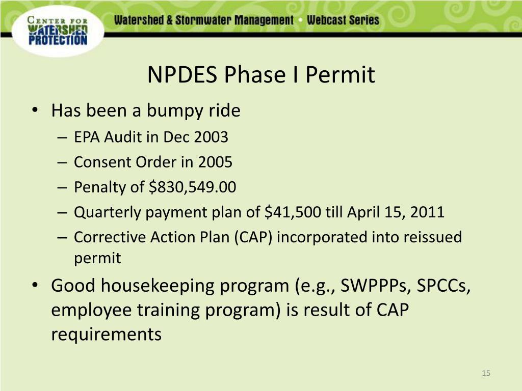 NPDES Phase I Permit
