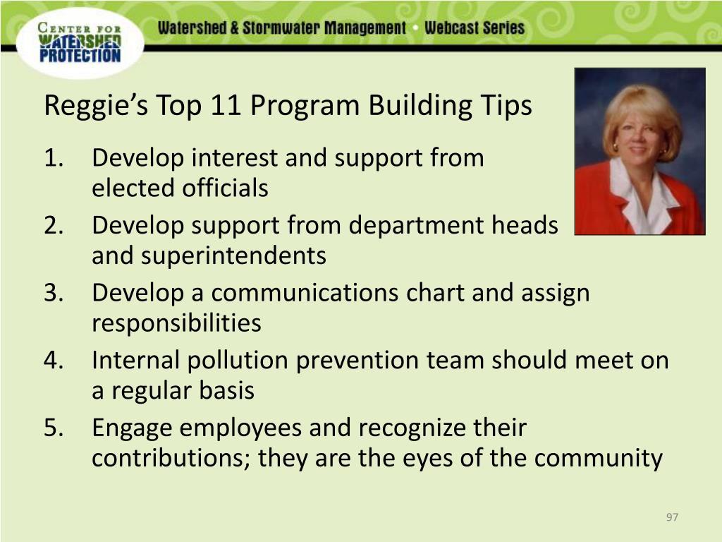 Reggie's Top 11 Program Building Tips